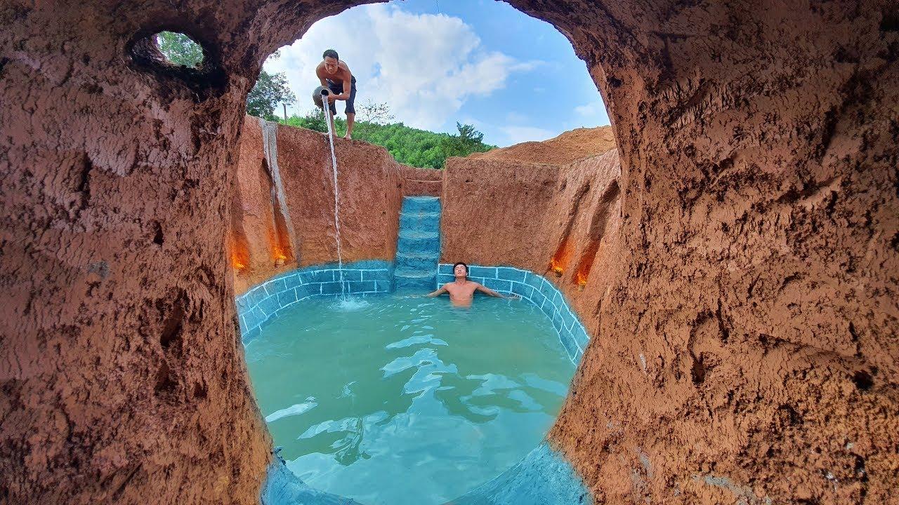 How To Build The Most Amazing Swimming Pool Around Secret Underground House