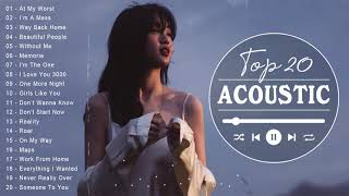 The Best Music Acoustic 2021 ♥ Top English Acoustic Cover Of  All Time Of Popular Songs