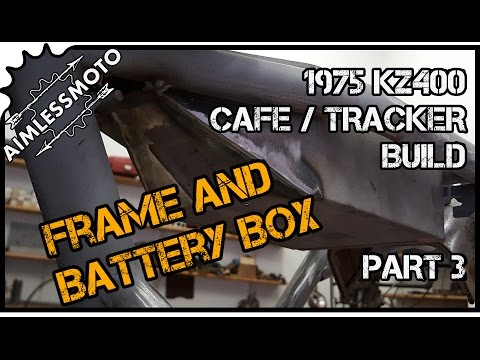 "How to ""Cafe"" a Motorcycle Frame and Build a Custom Battery Box 