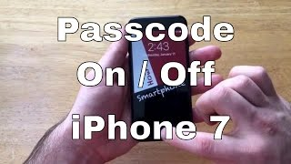 How to Turn Screen Passcode on/off - iPhone 7/7+