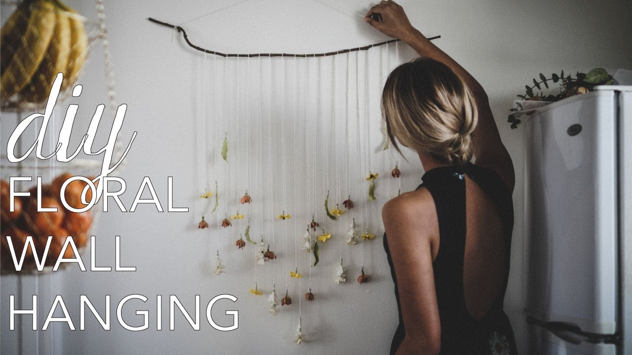 DIY Floral Wall Hanging // Spring Decor - YouTube on Hanging Wall Sconces For Flowers id=16078