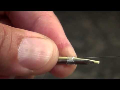 Make a nail knot tool and tie a nail knot doovi for Tyepro fishing tool