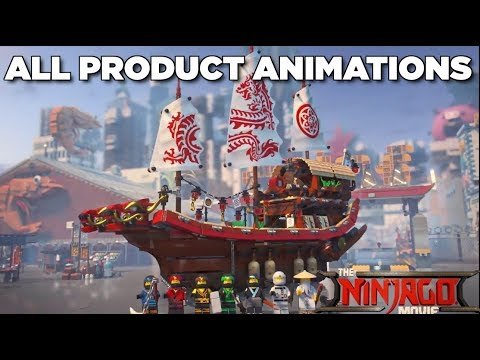 All Lego Ninjago Movie Product Animations (HD)