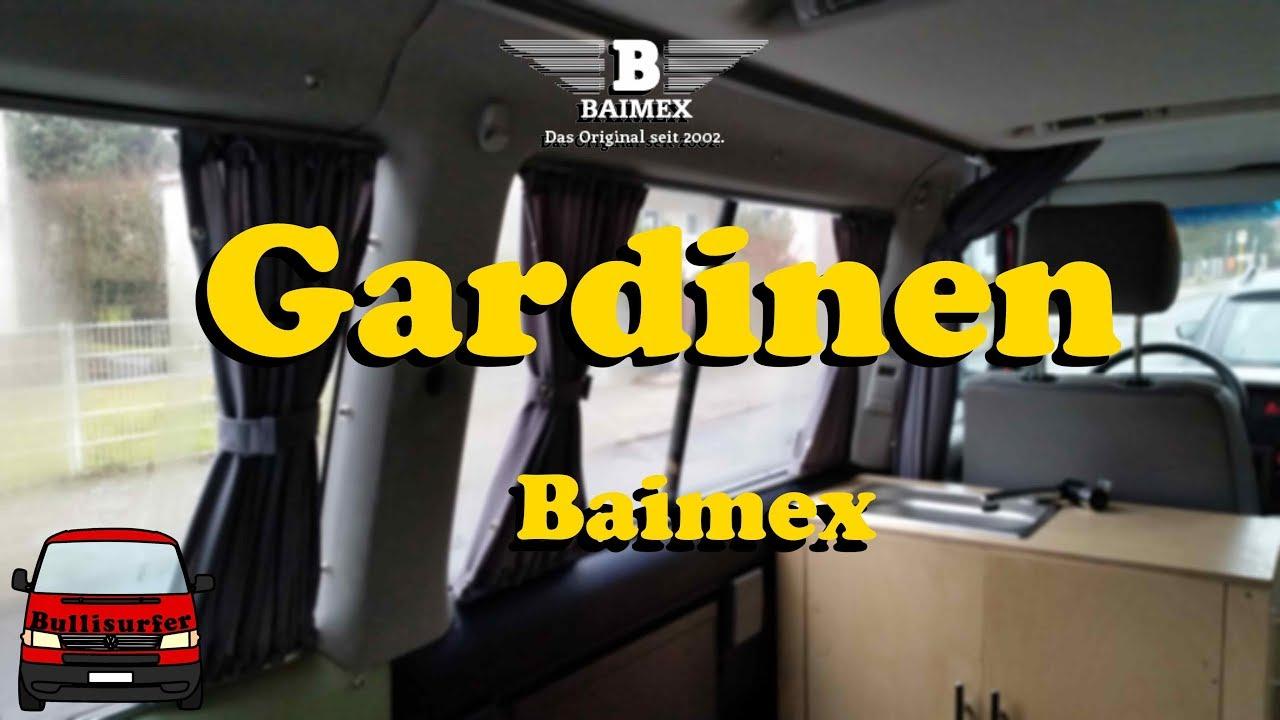 neue gardinen von baimex vw t4 umbau zum camper 11 youtube. Black Bedroom Furniture Sets. Home Design Ideas