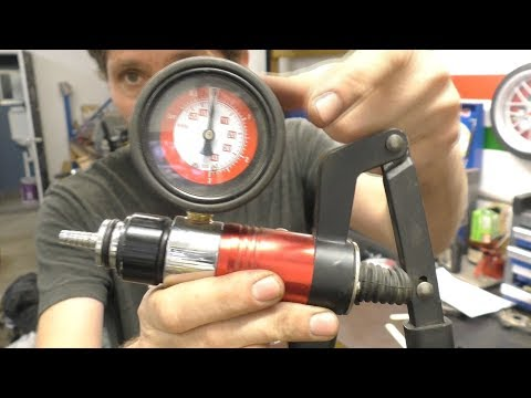 Pressure testing an outboard gearbox
