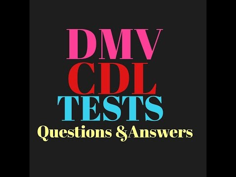 Cdl Test Questions And Answers To Get Your License