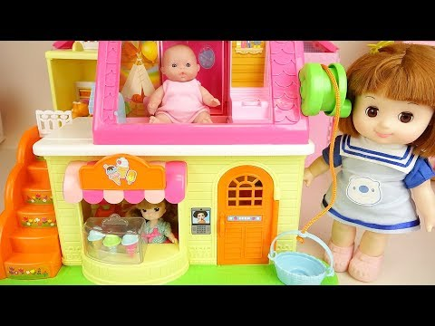Ice cream shop baby doll friends play house