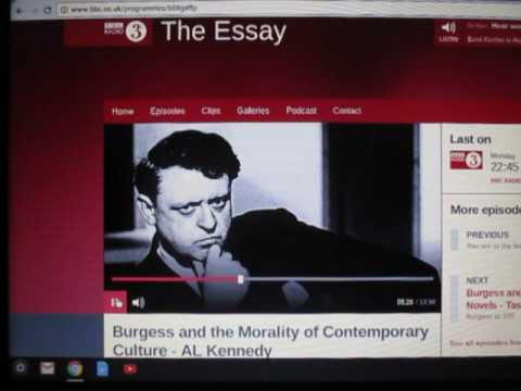 Anthony Burgess at 100. 1/5 The Essay Radio 3