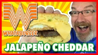 Whataburger Jalapeños Cheddar Biscuit Review | KBDProductionsTV