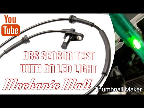ABS sensor and bearing testing (using a LED test light)