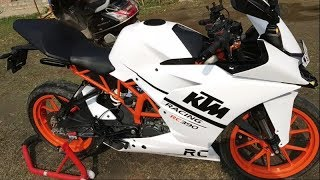 KTM RC 200 WRAPPED   Custom wrap Converted into Rc 390 White