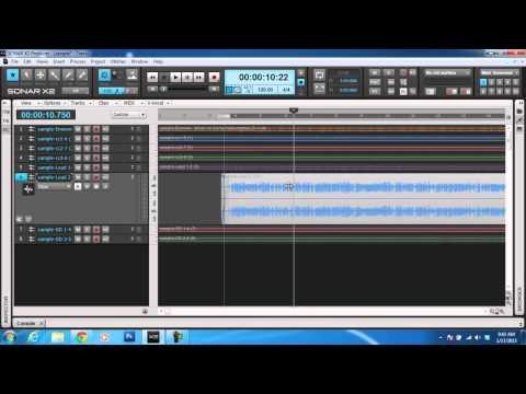 SONAR X2 Digital Audio Workstation - EDITING BASICS