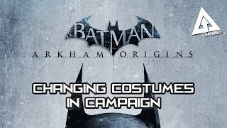 Batman Arkham Origins Gameplay - How to change skins/costumes in story mode