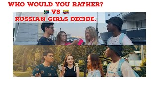 Who would you rather?| Russian girls decide | Public interview