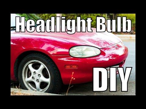 Mazda Miata NB Headlight Bulb Replacement DIY – How to replace – 1999 2000 2001 2002 2003 2004