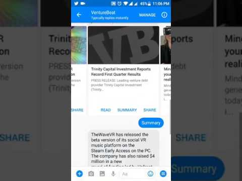 VentureBeat on Messenger