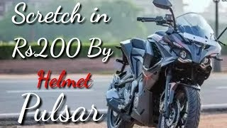 Pulsar Rs200 Black Edition || Damaged By Helmet in Rs200 || Watch full video