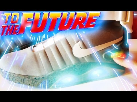 Back to the Future Nike Mag Replica Shoes (V2) Marty Mcfly Unboxing   Review 138257dfa