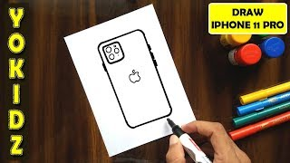 HOW TO DRAW APPLE IPHONE 11 PRO