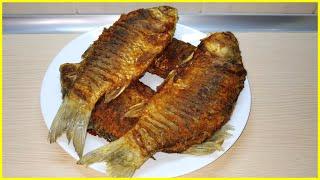 Как жарить рыбу/Карась/На сковороде