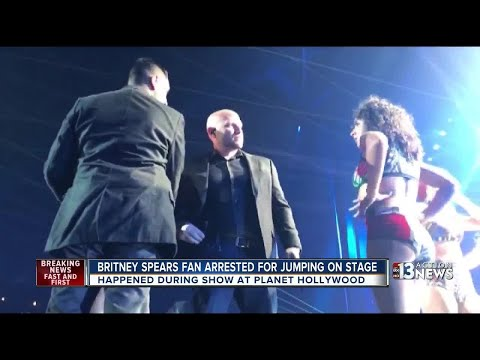 Britney Spears fan arrested for jumping on stage