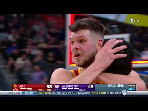Men's Basketball - PAC12 Tournament: USC 75, Washington 78 - Highlights 03/14/2019