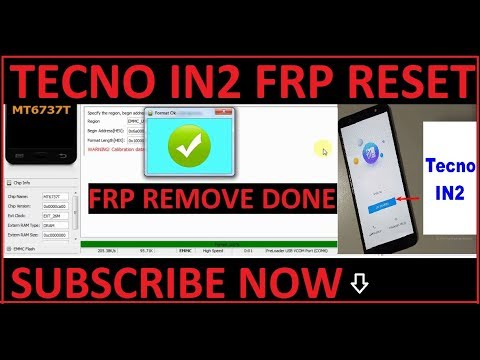 Tecno IN2 frp reset by sp flash tool 100% working - hmong video