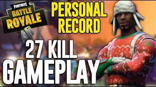 27 Kill Solo Squad Gameplay!! Fortnite Battle Royale Gameplay - Ninja