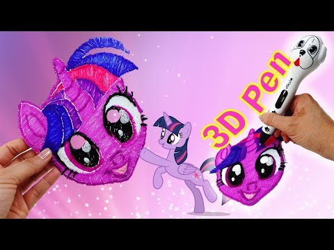 How to make a Custom Twilight Sparkle Mask using Dikale 3D Pen Easy DIY Crafts