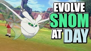 How to see Friendship Level + Evolve Snom during the Day - Pokemon Sword and Shield