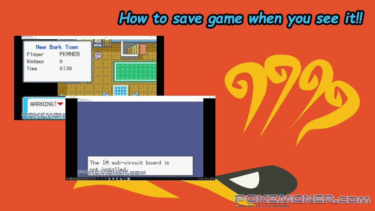 How to fix save error on visual boy advance