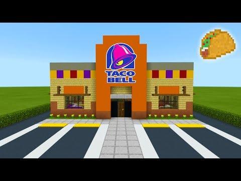 "Minecraft Tutorial: How To Make A Taco Bell (Restaurant) ""2019 City Tutorial"""