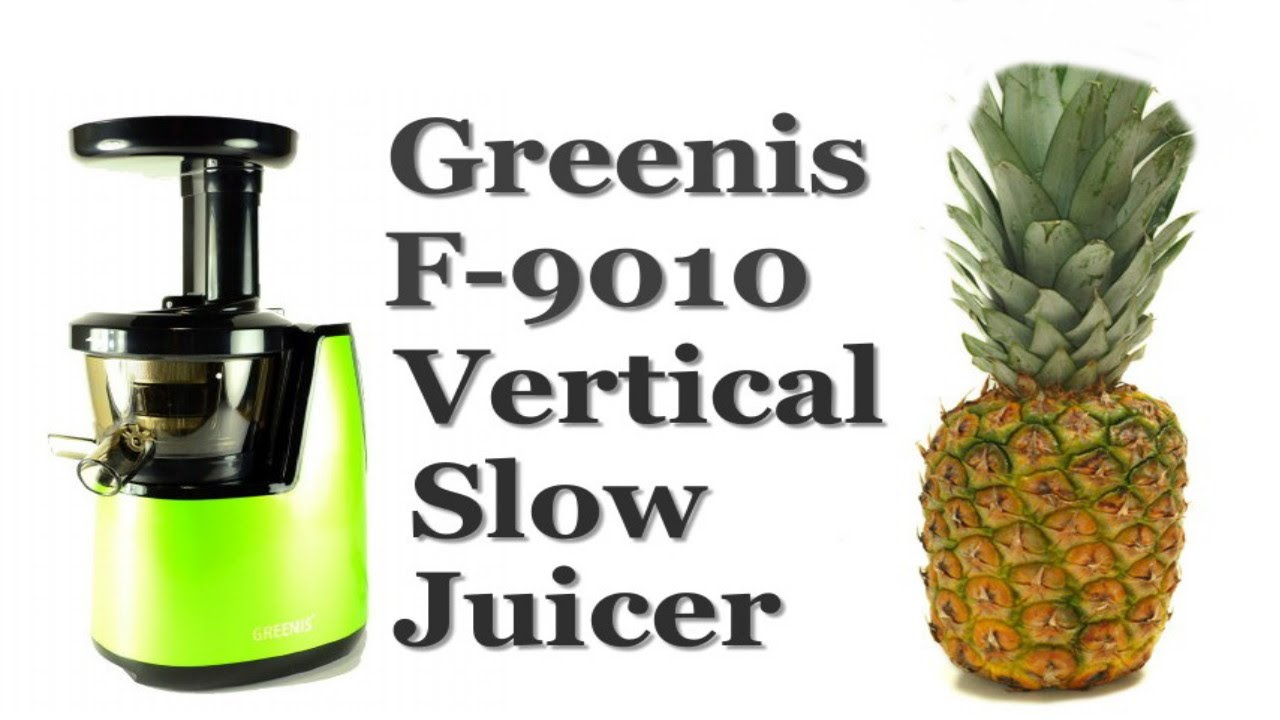 Greenis F-9010 vertical Slow Juicer in Green Review - YouTube