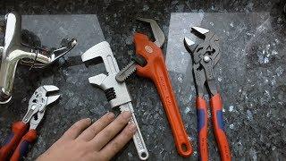 Обзор сантехключей Ridgid, Facom, Knipex. Тест на смесителе.