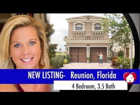 New Listing Home in Reunion, Florida  Golf Course Lot, Pool and So Much More!