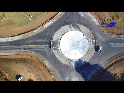 Roundabout at U.S. Route 60 & Missouri Route 43 in Newton County, Mo.