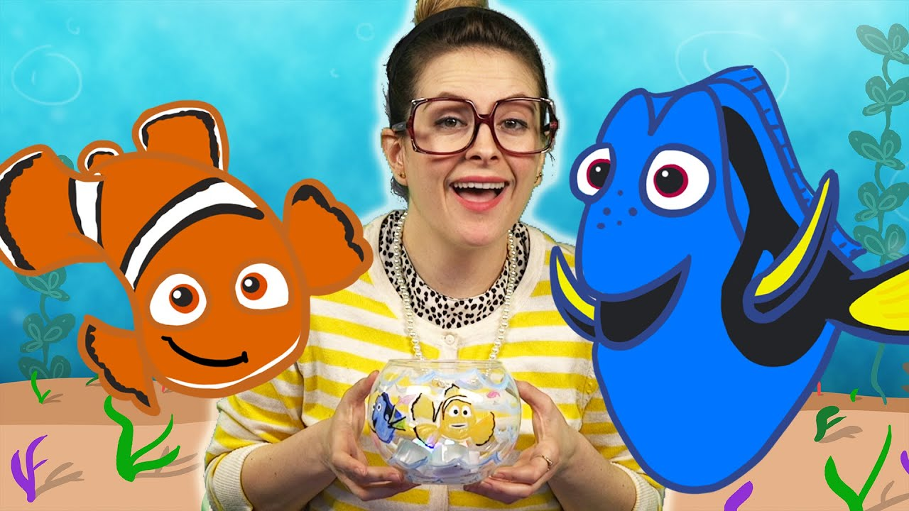 Finding nemo diy fishbowl night light craft arts and for Crafts for kids com