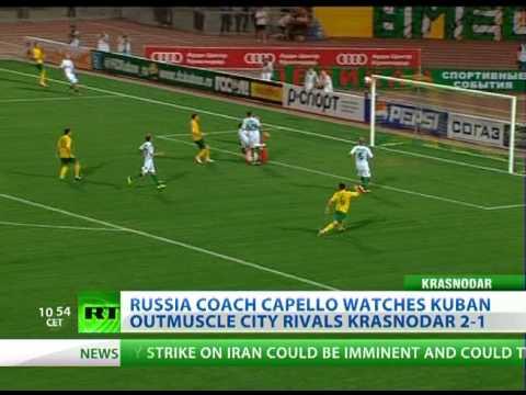 Russia coach Fabio Capello watches Kuban outmuscles Krasnodar 2-1