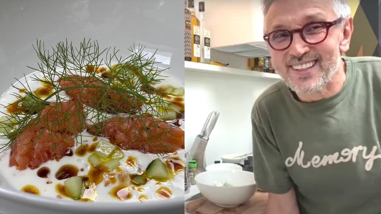 ZUPPA DI YOGURT ALLE SPEZIE CON SALMONE MARINATO | Chef BRUNO BARBIERI