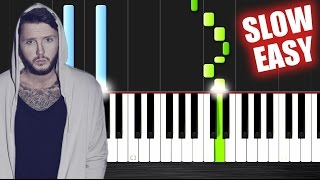 Download James Arthur - Say You Won't Let Go - SLOW EASY Piano Tutorial by PlutaX Mp3 and Videos