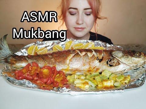 Толстолобик Запеченный с Овощами  Silver carp Baked with Vegetables ASMR MUKBANG  eating show  먹방