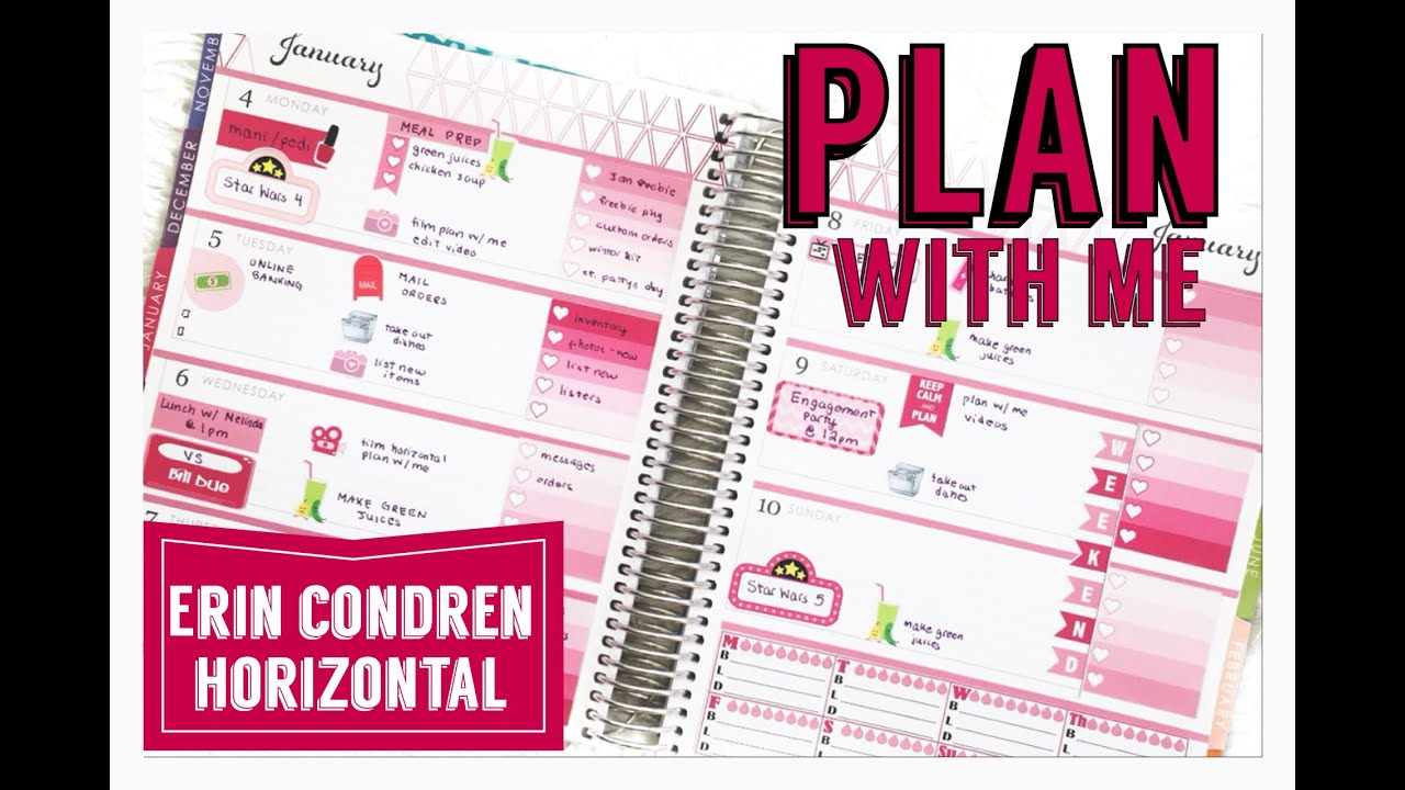 Plan With Me January Erin Condren Life Planner Weekly