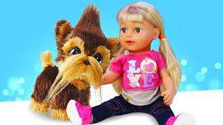 Смешные видео про куклы Беби Бон и щенки Фурриал! Принцессы Диснея весёлые игры для девочек одевалки