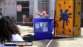 Century Media Records (US) staff trying their best to dunk other staff members! PARTY HARD.