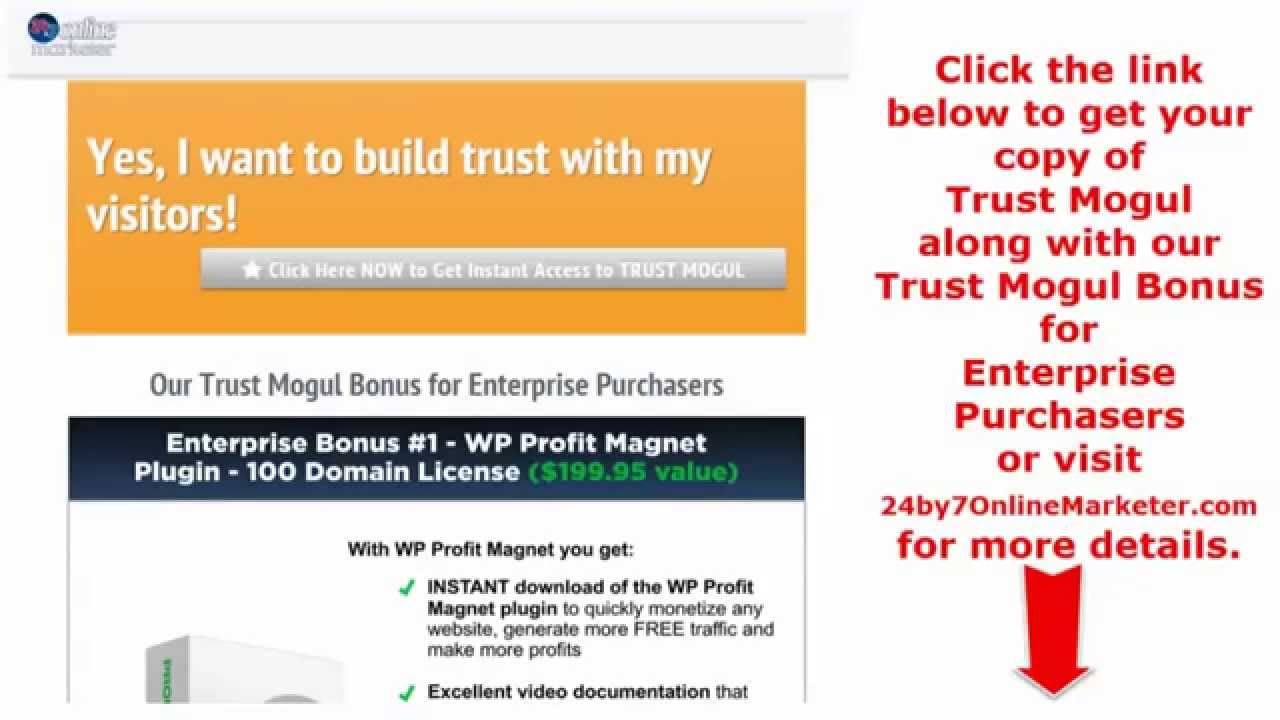 d4cae3fbe0e50 Trust Mogul Review - Peter Garety - Bonuses - YouTube