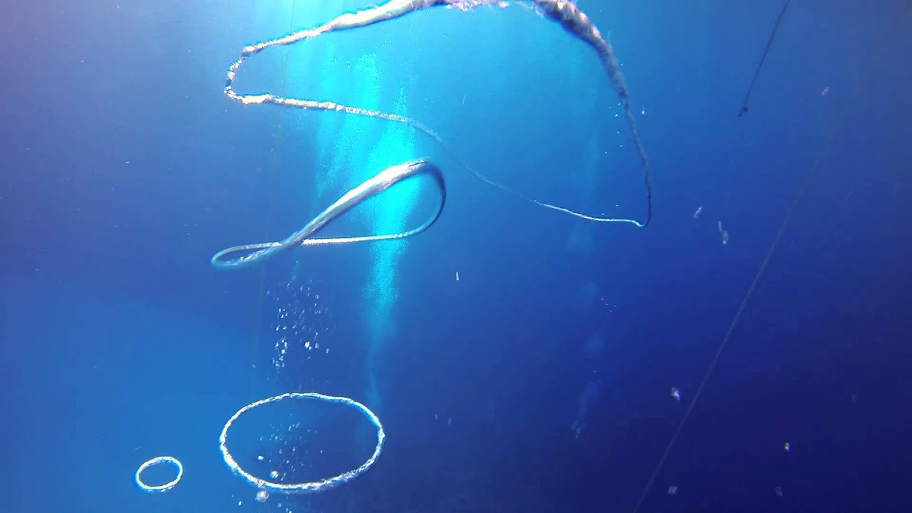 Mark Tilley Blowing Bubble Rings - Scuba Diving - YouTube