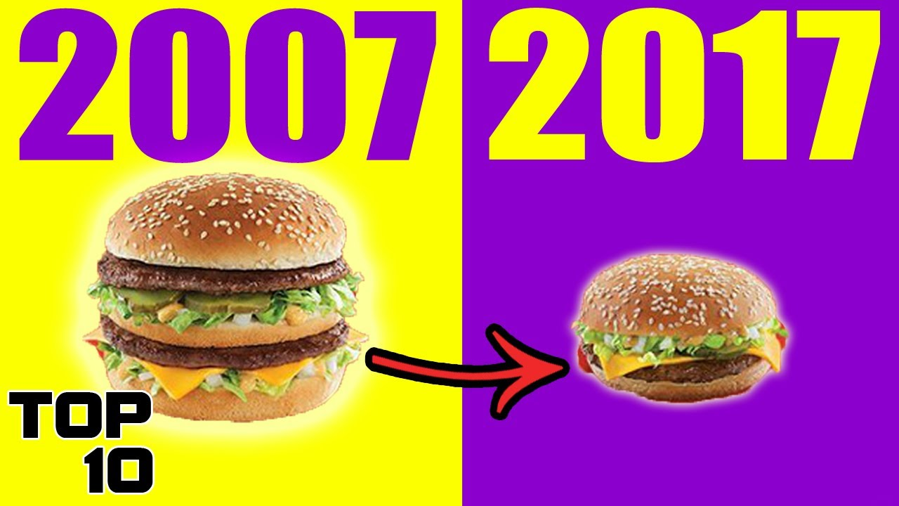 Top 10 Insane Food Changes That EVERYBODY Missed