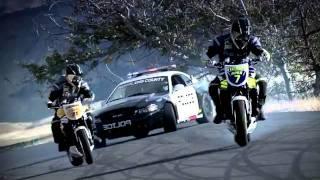Drift Police Car vs 2 Drift Motorcycles