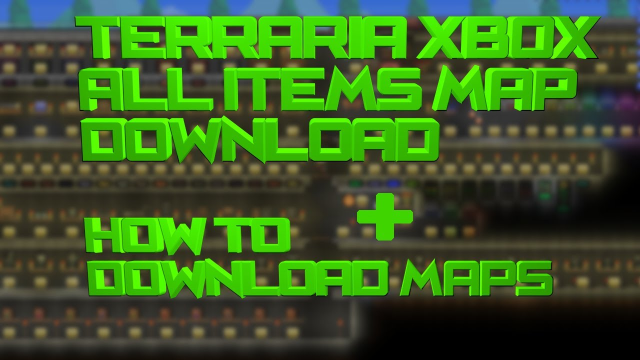 All Items Map + How To Download Maps