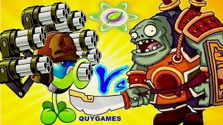 All peashooter Pvz2 Vs Zomboss Battles in Plants vs. Zombies 2 Chinese : Gameplay 2017